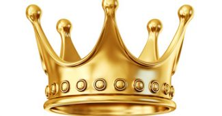 golden crown isolated on a white background