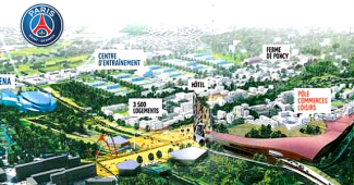 Vue du projet du PSG à Poissy