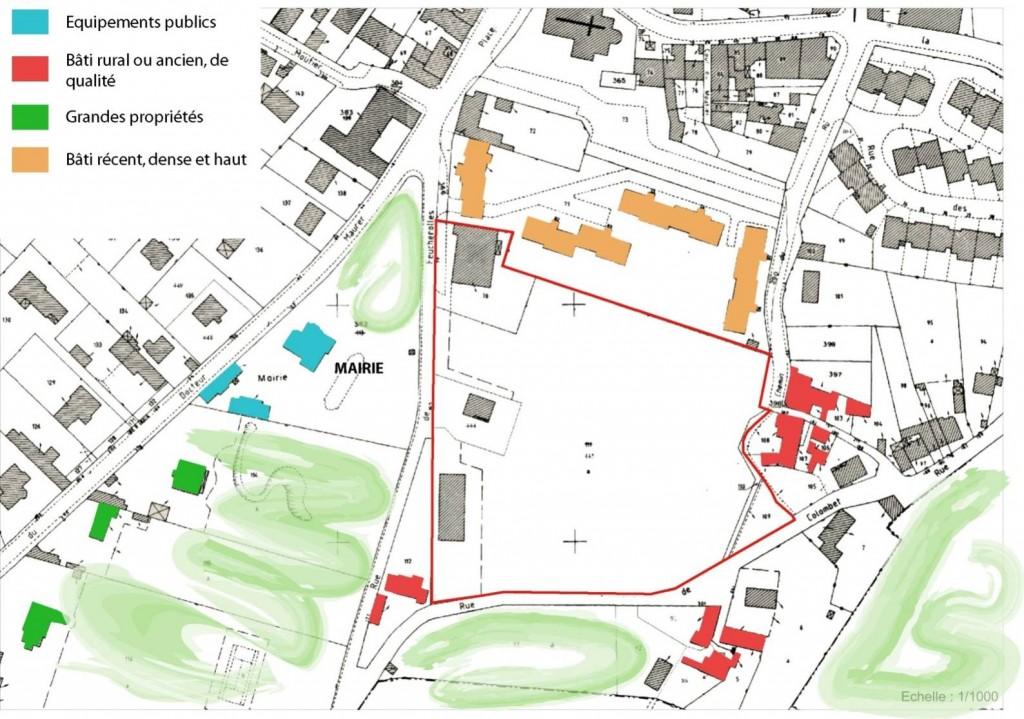 Vue cartographique du projet Feucherolles-Colombet