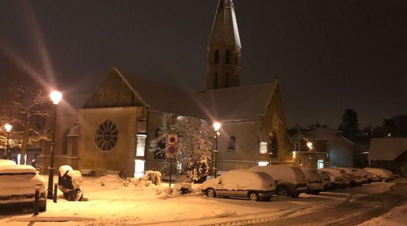 Eglise d'Orgeval sous la neige